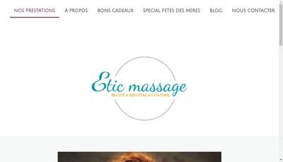 Site internet de Etic Massage
