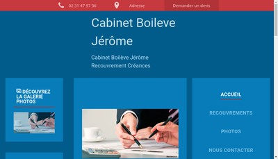 Site internet de Cabinet Boileve Jerome