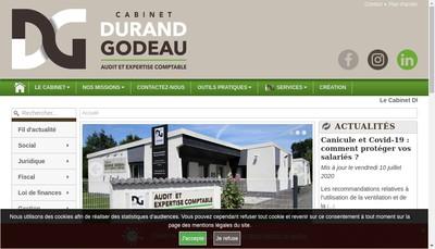 Site internet de Cabinet Durand Godeau