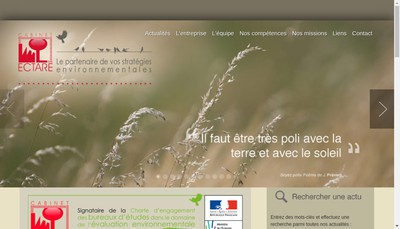 Site internet de Cabinet Ectare