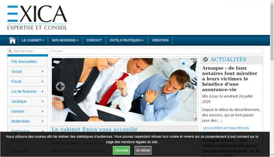 Site internet de Exica
