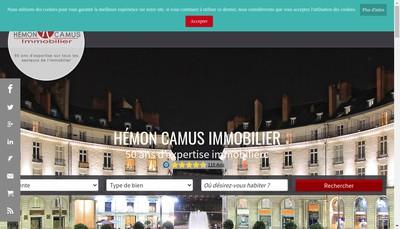 Site internet de Cabinet Hemon Hemon Camus Immobilier Cabinet Mallet