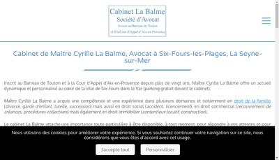Site internet de Cabinet la Balme