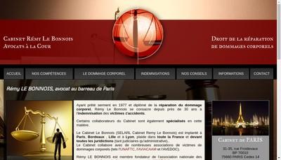 Site internet de Cabinet Remy le Bonnois