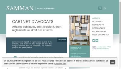 Site internet de Samman Cabinet d'Avocats