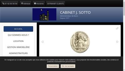 Site internet de Cabinet J Sotto