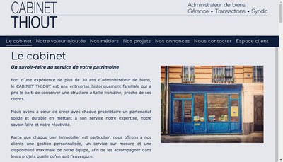 Site internet de Cabinet Thiout