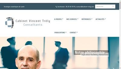 Site internet de Cabinet Vincent Trely Consultants