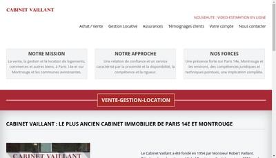 Site internet de Cabinet Vaillant