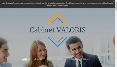 Site internet de Cabinet Valoris