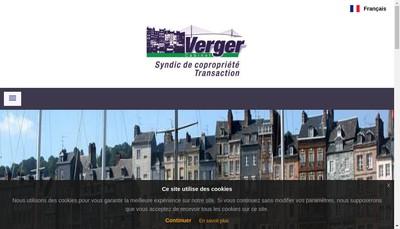 Site internet de Cabinet Verger