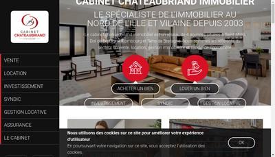 Site internet de Cabinet Chateaubriand Immobilier