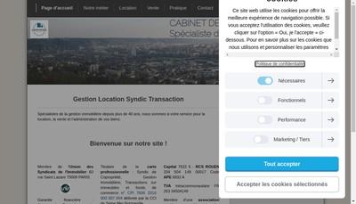 Site internet de Cabinet Robert Deshayes