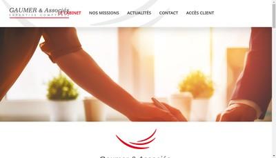 Site internet de Gaumer & Associes Expertise Comptable