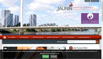 Site internet de Cabinet Jaunin SAS