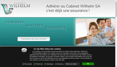 Site internet de Cabinet Wilhelm SA