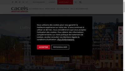 Site internet de Caceis Bank