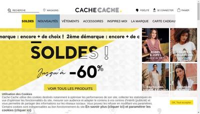 Site internet de Cache Cache