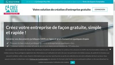 Site internet de Ça Crée Pour Moi - cacreepourmoi.fr