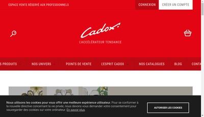 Site internet de Cadox