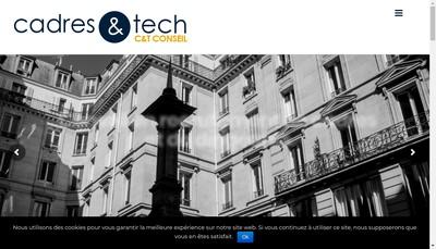 Site internet de Cadres et Tech - C & T Conseil