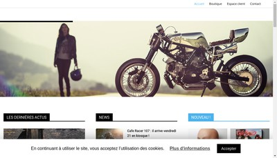 Site internet de CAFE RACER