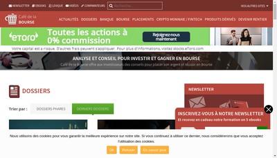 Site internet de Cafedelabourse