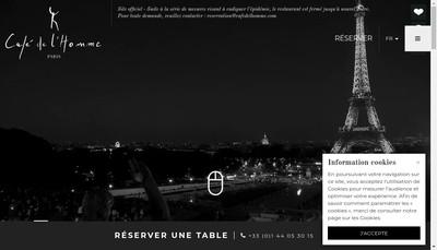 Site internet de Le Cafe de l'Homme