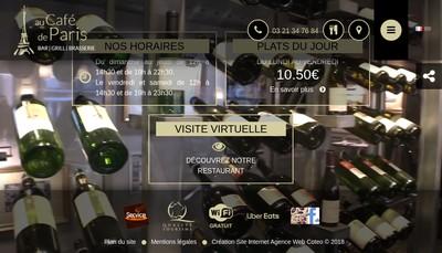 Site internet de Cafe de Paris Calais