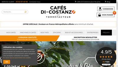 Site internet de Cafes Di-Costanzo