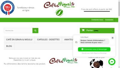 Site internet de Cafes Miguel Caffeo
