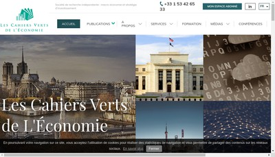 Site internet de Les Cahiers Verts de l'Conomie