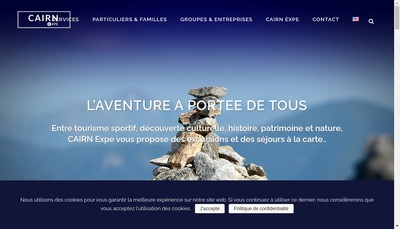 Site internet de Cairn Expe