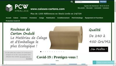 Site internet de Pcw Emballage
