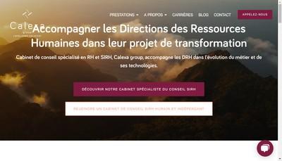 Site internet de Calexa group - L'intelligence collective