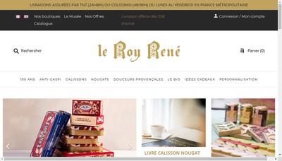 Site internet de Calissons Roy Rene-Calissons Reine Jeann