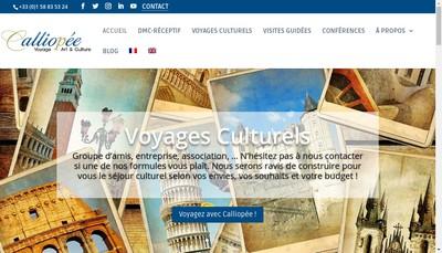 Site internet de Calliopee - Voyage Art & Culture