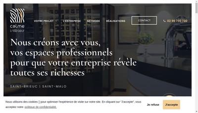 Site internet de Calme Interieur