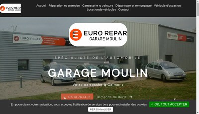 Site internet de Garage Moulin