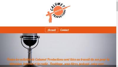 Site internet de Calumet Productions