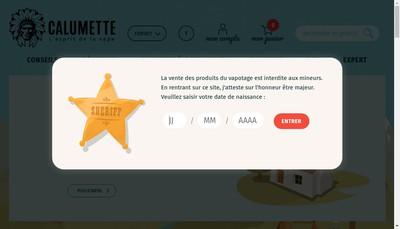 Site internet de Calumette
