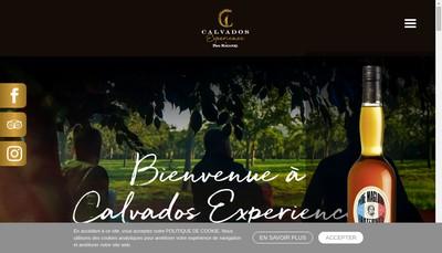 Site internet de Calvados Experience