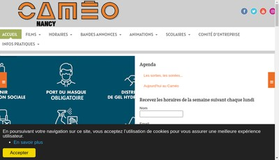 Site internet de Cameo