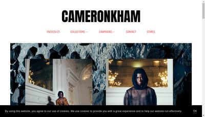 Site internet de Cameron Kham