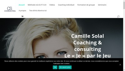 Site internet de Camille Solal Consulting