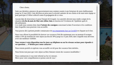 Site internet de Bois Simonet