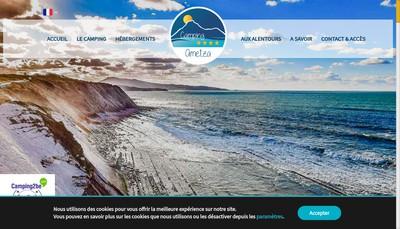 Site internet de Camping Ametza