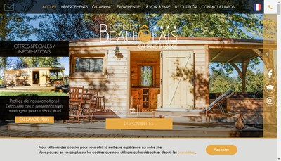 Site internet de Camping les Portes du Beaujolais