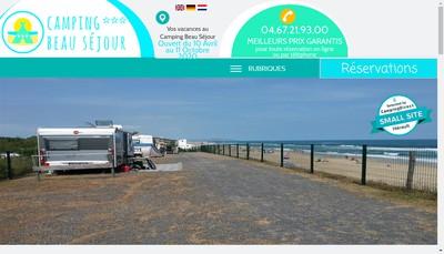 Site internet de Camping Beau Sejour