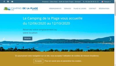Site internet de Camping de la Plage